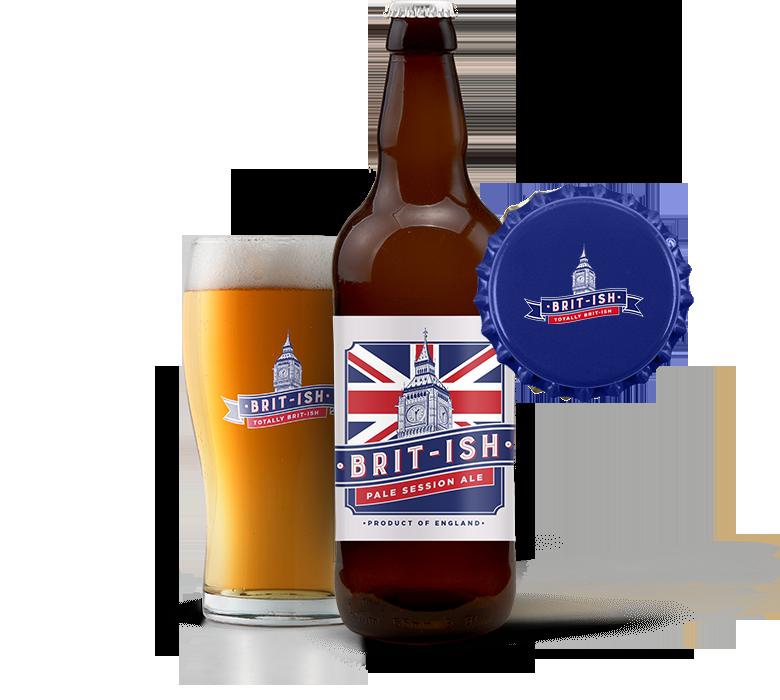 british fulll bottle n cup